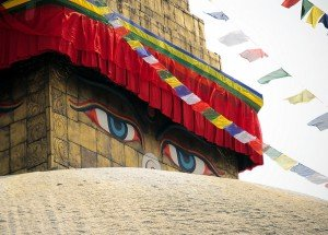 Bodnath Stupa's eyes!