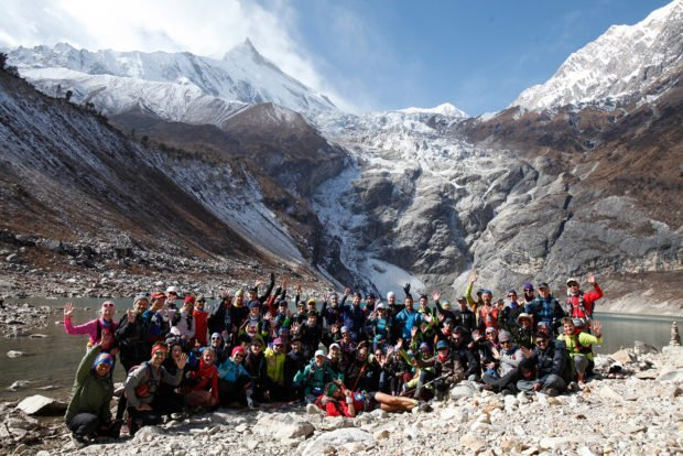 The 2018 Manaslu Trail Race field group photo